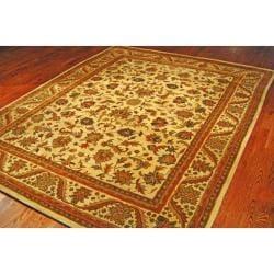 Handmade Heritage Ivory Wool Rug (9'6 x 13'6)