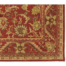 Safavieh Handmade Heirloom Red Wool Rug (5' x 8')