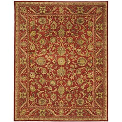 Safavieh Handmade Heirloom Red Wool Rug (7'6 x 9'6)