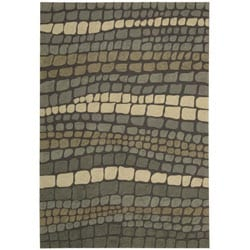 Nourison Hand-hooked Fantasy Multi Abstract Rug (8' x 10'6)