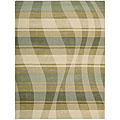 Nourison Hand-tufted Panache Sage/Beige Abstract Wool Rug (7'3 x 9'3)