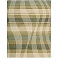 Nourison Hand-tufted Panache Sage/Beige Abstract Wool Rug (8' x 11')