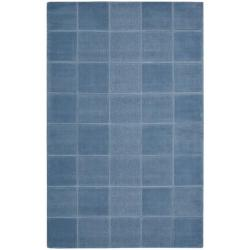 Nourison Hand-tufted Westport Blue Wool Rug (2'6 x 4')