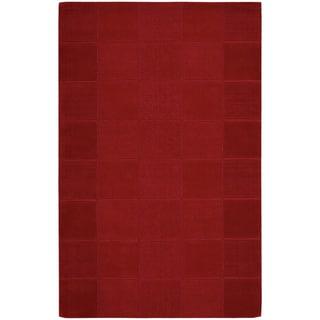Nourison Westport Hand-tufted Red Wool Rug (3'6 x 5'6)