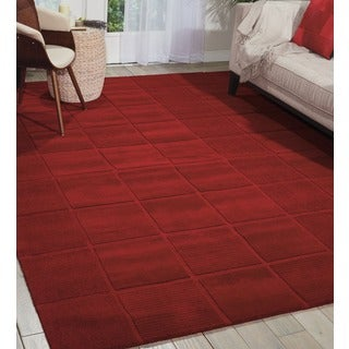 Hand-tufted Westport Red Wool Rug (3'6 x 5'6)