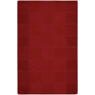 Nourison Westport Hand-tufted Red Wool Rug (5' x 8')