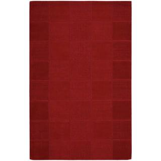 Nourison Westport Hand-tufted Red Wool Rug (5' x 8')