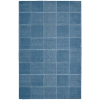 Nourison Westport Hand-tufted Blue Wool Rug (8' x 10'6)