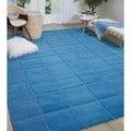 Nourison Westport Hand-tufted Blue Wool Rug (8' x 10'6)