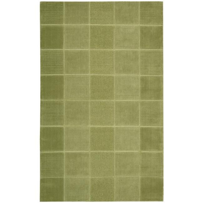Nourison Westport Hand-tufted Green Wool Rug (8' x 10'6)