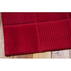 Nourison Westport Hand-tufted Red Wool Rug (8' x 10'6)