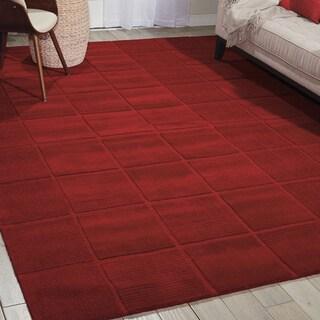 Nourison Westport Hand-tufted Red Wool Rug (8' x 10'6)