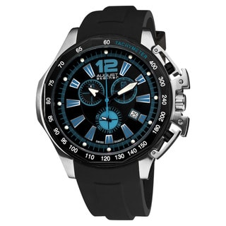 August Steiner Men's Water-resistant Stainless Steel Swiss Quartz Chronograph Watch