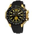 August Steiner Men's Stainless Steel Swiss Quartz Chronograph Watch