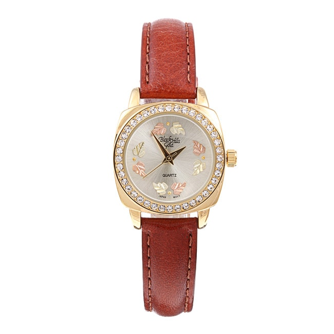 Black Hills Ladies' Gold Leather Strap Watch
