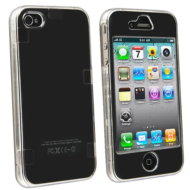 INSTEN Snap-on Crystal Phone Case Cover for Apple iPhone 4
