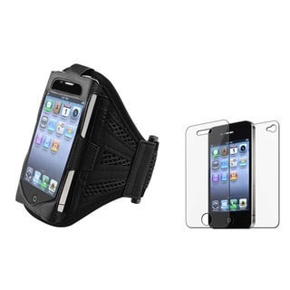 INSTEN Armband and Screen Protector for Apple iPhone 4