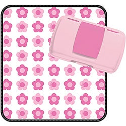 B.box Flower Power Diaper Wallet and Changing Pad