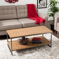 Elements Grey/Brown Coffee Table with Shelf