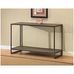 Elements Grey Sofa Table with Shelf