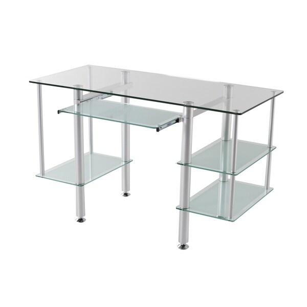 Glass 'Sabra' Computer Desk
