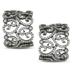 Miadora 18k White Gold 1 7/8ct TDW Diamond Earrings (G-H, SI1-SI2)