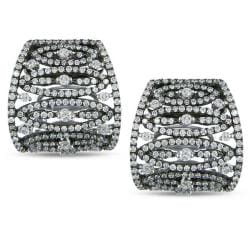 Miadora 18k White Gold 1 5/8ct TDW Diamond Earrings (G-H, SI1-SI2)