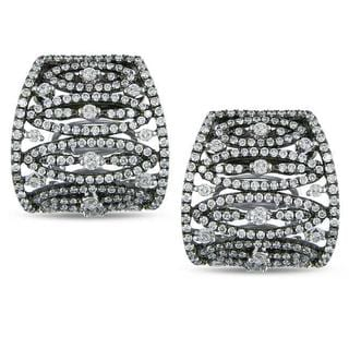 Miadora Signature Collection 18k White Gold 1 5/8ct TDW Diamond Earrings (G-H, SI1-SI2)