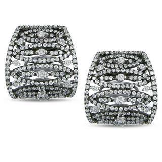 SHIRA 18k White Gold 1 5/8ct TDW Diamond Earrings (G-H, SI1-SI2)