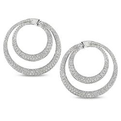 Miadora 18k White Gold 5 7/8ct TDW Diamond Earrings (G-H, SI1-SI2)