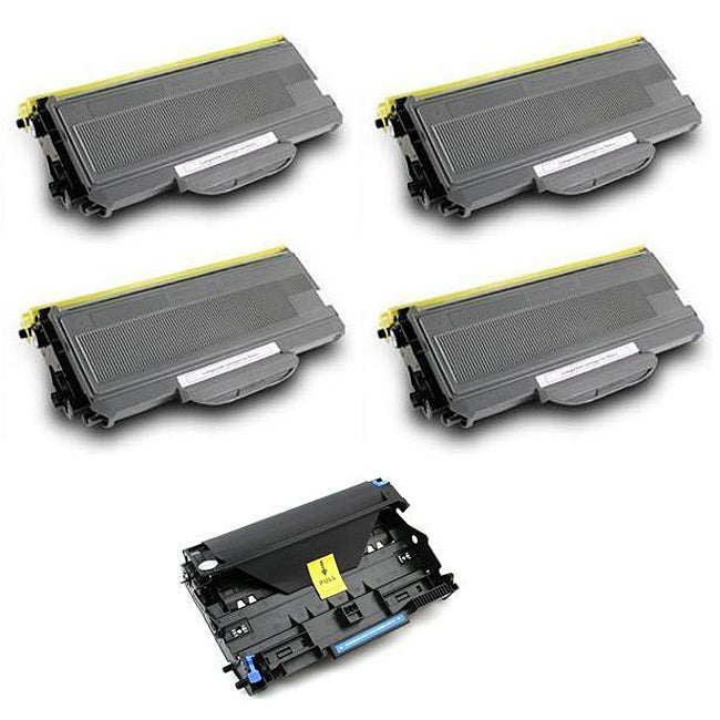 Brother 4 x TN360, 1 x DR-360 Compatible Black Toner Cartridge