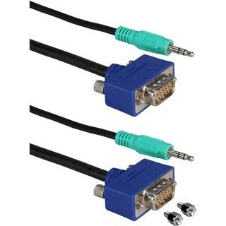 QVS UltraThin CC388MA Monitor Audio/Video Cable