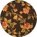Safavieh Hand-hooked Garden Vines Brown Wool Rug (5'6 Round)