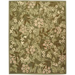 Safavieh Hand-hooked Patches Green Wool Rug (5'3 x 8'3)