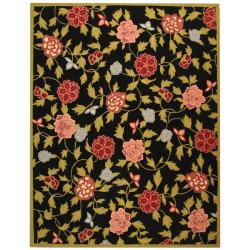 Safavieh Hand-hooked Garden Black Wool Rug (7'9 x 9'9)