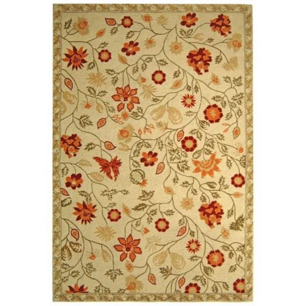 Safavieh Hand-hooked Eden Ivory Wool Rug (3'9 x 5'9)