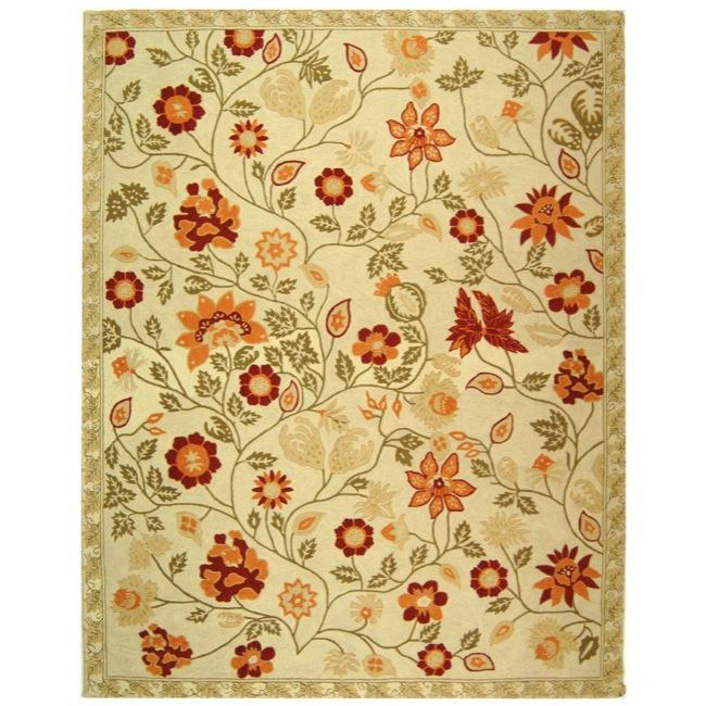 Safavieh Hand-hooked Eden Ivory Wool Rug (6' x 9')