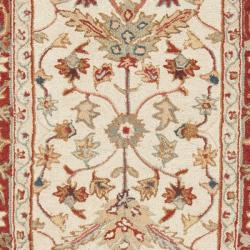 Safavieh Hand-hooked Tabriz Ivory/ Red Wool Runner (2'6 x 12')