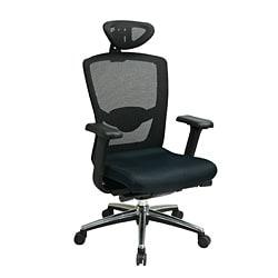 Office Star Black ProGrid Headrest Chair