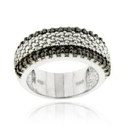 DB Designs Sterling Silver 1/3ct TDW Black Diamond Ring