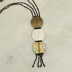 Shell Stacked Pendant Necklace (Philippines)