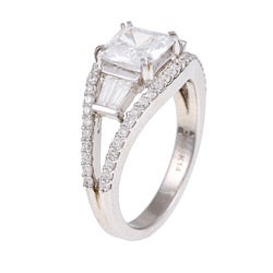 14k Gold 5/8ct TDW Diamond and CZ Designer Ring (H, SI1)
