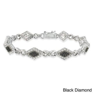 DB Designs Sterling Silver Black or Champagne 1/3ct TDW Diamond Bracelet