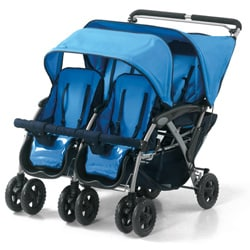 Foundations Quad 4-passenger Dual Canopy Stroller
