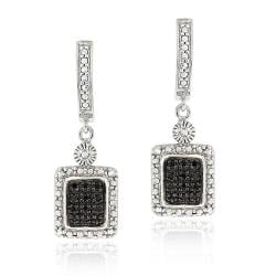 DB Designs Sterling Silver 1/4ct TDW Black Diamond Dangle Earrings