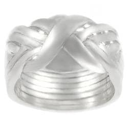 Tressa Sterling Silver 8-piece Puzzle Ring