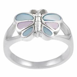 Tressa Sterling Silver Mother of Pearl Butterfly Ring