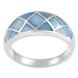 Tressa Sterling Silver Blue Mother of Pearl Ring
