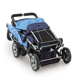 Foundations Blue Trio Triple Tandem Stroller 13048842