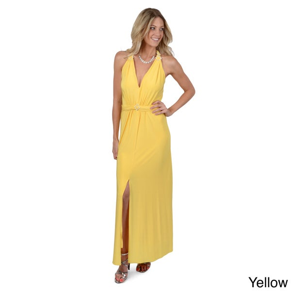 Party Line Elegant Women's V-neck Maxi Dress